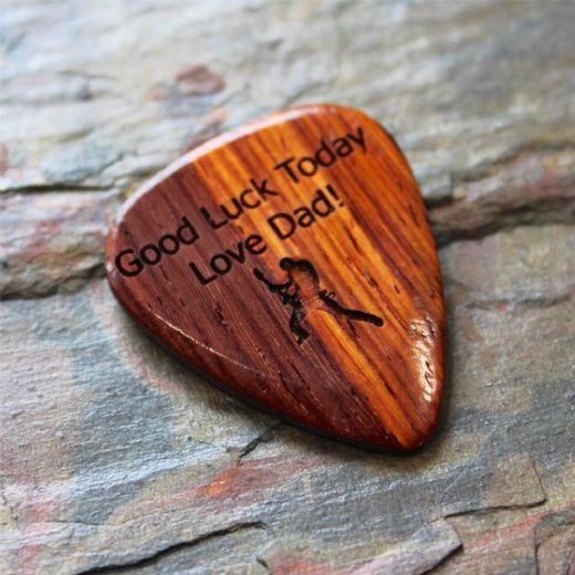 Personalised Burma Padauk Guitar Pick (1)